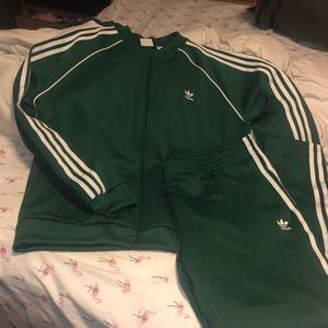 Green Adidas Track Suit - XL